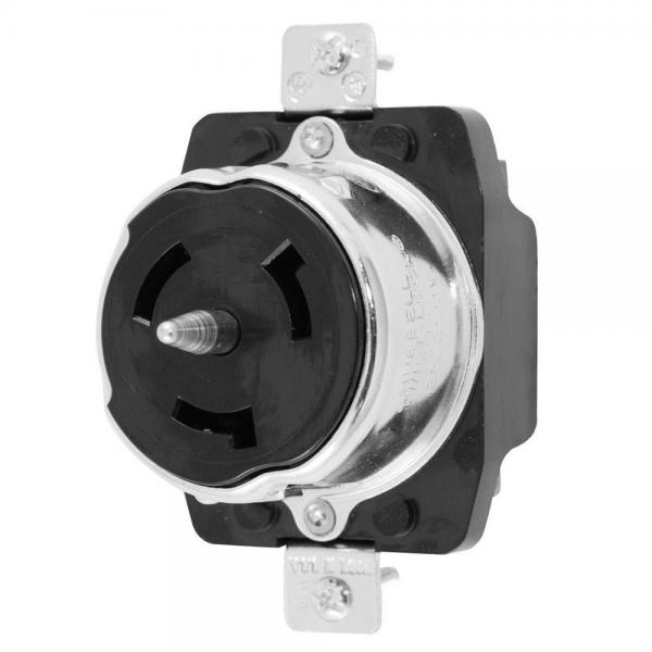Receptacle, 3 pole 4 wire, 50 amp, 125/250 volt