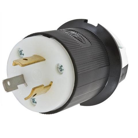Insulgrip Plug, 2 pole 3 wire, 20 amp, 125 volt